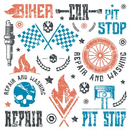 Set Von Rennen Und Camping-Patch. Grafik-Design Für T-Shirt ...
