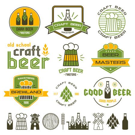 Barbecue Und Handwerk Bierbrauerei Embleme, Etiketten Und Design ...
