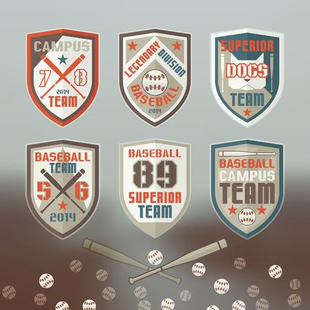 rebellious: Set of emblems baseball team