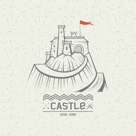 pictured: Stylized image of a castle on the mountain