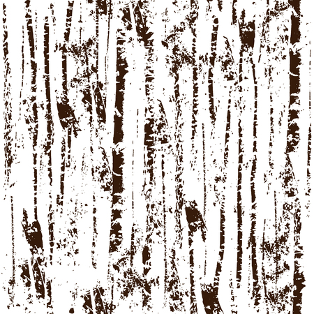 Expressive texture forest seamless pattern. Black print on a white background