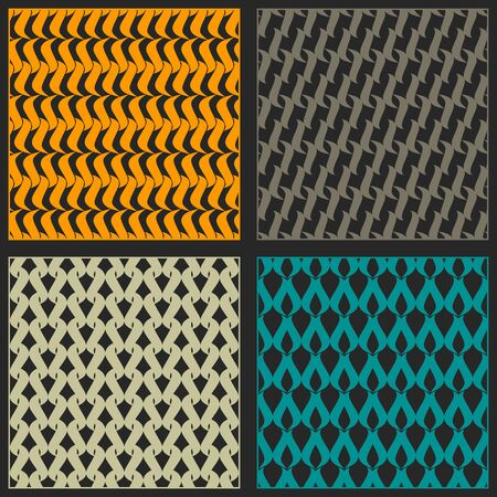 Set of seamless patterns. Bright color