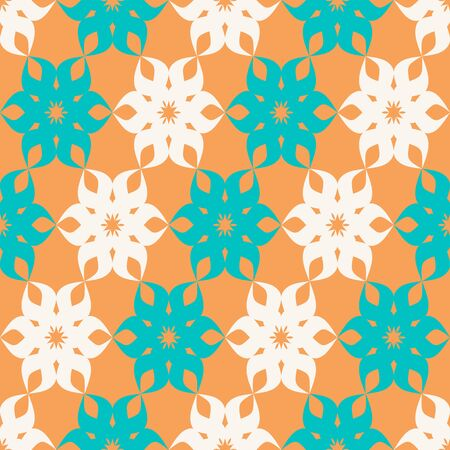 diagonal stripes: Stylized floral seamless pattern with diagonal stripes Illustration