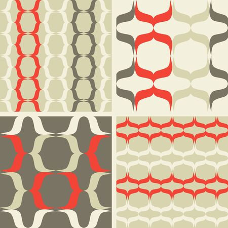 discreet: Set of seamless patterns in the style of minimalism Illustration