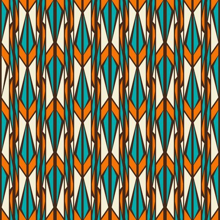 pointed arrows: Twilight forest seamless pattern in retro style Illustration