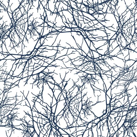 lacerated: Openwork texture branches seamless pattern. Texture tracing with own original photos