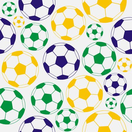 bright: Bright soccer pattern: balls