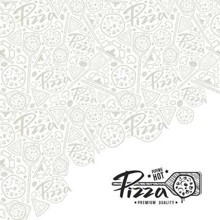 Pizza cover for boxes. White background