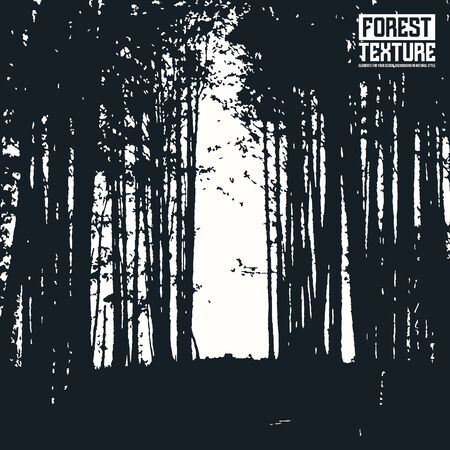 ambience: Opening wall forest texture as background on emblem or overlays on photo. Black and white  print Illustration