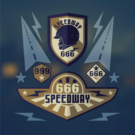 rebellious: Set of emblems speedwey 666