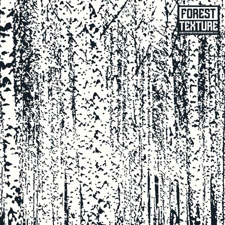 birch bark: Birch forest texture as background on emblem or overlays on photo. Black and white  print