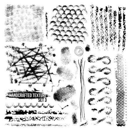 smears: Expressive handcrafted texture set smears and fingerprints. Black to white background