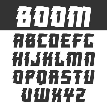 オリエンタル スタイルでは、見出しのサンセリフ フォントです。光の背景に黒のフォント