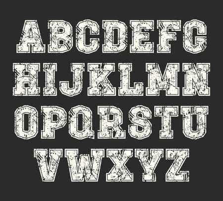 monumental: Slab-serif font with contour in the style of college.  White font on a black background