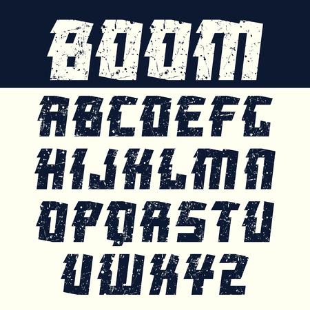 ぼろぼろのテクスチャでオリエンタル スタイルでは、見出しのサンセリフ フォントです。光の背景に黒のフォント