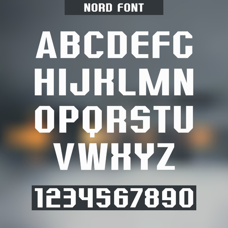 monumental: Font and numeral on blurred background