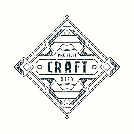 Stock craft beer label design.