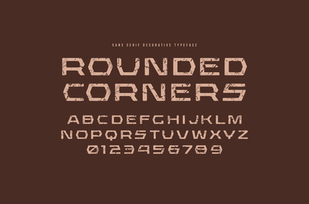 Geometric sans serif font with rounded corners.