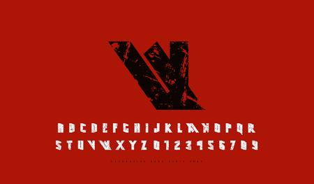 Stock vector narrow sans serif font. Futuristic style typeset.