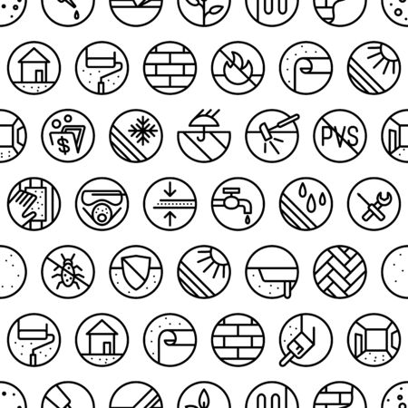 Seamless pattern for hardware store.  For web and wrapping paper design Ilustração