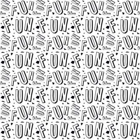 Zine culture seamless pattern. Black print on white background Stock Illustratie