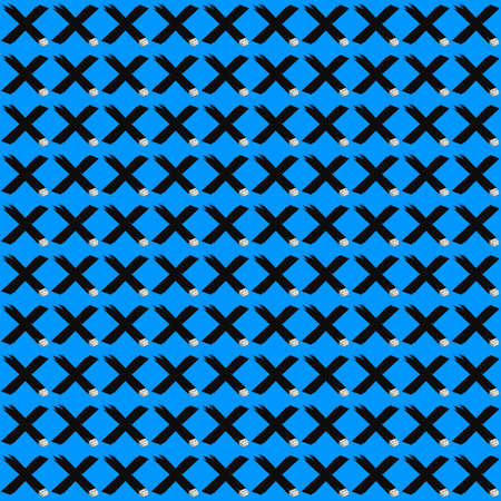 Digital detox seamless pattern in pop art style. Letter x with usb connector in isometric style