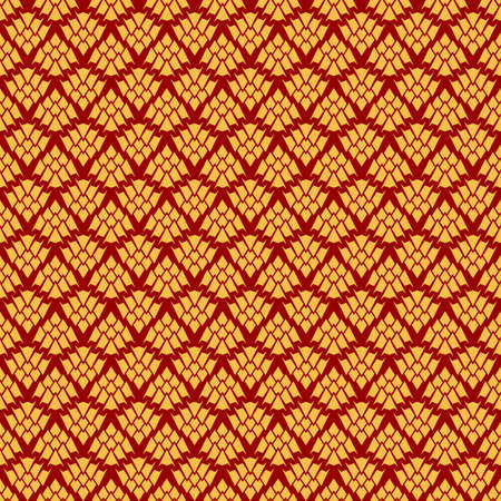 Decorative seamless pattern in luxury style. The hop silhouette stylized. For web background, fabric and wallpaper design