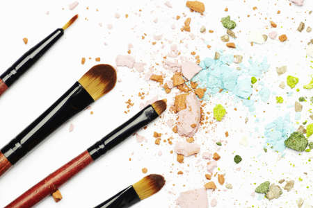 Makeup brushes and cosmetics photo