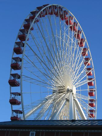 wheel on chicago peer during a nice winter day Stock Photo - 4538712
