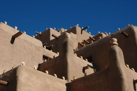 Santa Fe typical architecture in New Mexico