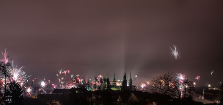New Year's Eve over Bamberg