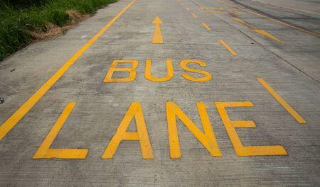 a public notice: bus lane symbol