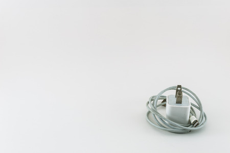 tangle: tangle charging cable on white