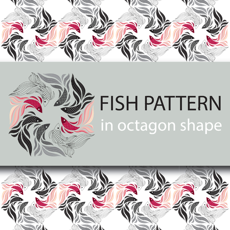 fighting fish: Fish pattern Illustration