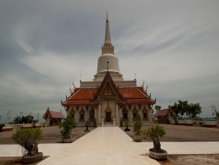 archaeological sites: Ancient pagoda  Important archaeological sites in Thailand  Stock Photo