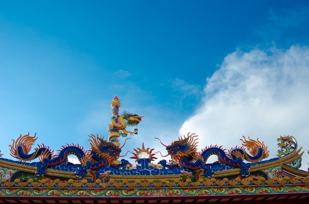 auspiciousness: Dragons are magical creatures known in the literature of China  The motto of the Chinese tend to be  Dragon is God  And as a symbol of auspiciousness  As well as a symbol of the emperor  Stock Photo