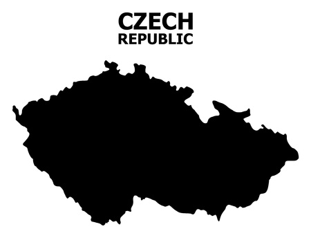 Vector Map of Czech Republic with title. Map of Czech Republic is isolated on a white background. Simple flat geographic map. Imagens - 120348515
