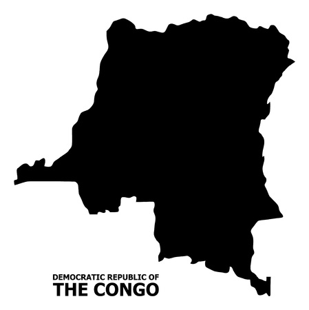 Vector Map of Democratic Republic of the Congo with name. Map of Democratic Republic of the Congo is isolated on a white background. Simple flat geographic map. Standard-Bild - 120348513