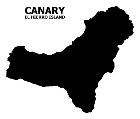 Vector Map of El Hierro Island with title. Map of El Hierro Island is isolated on a white background. Simple flat geographic map. Illusztráció