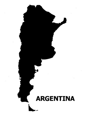 Vector Map of Argentina with name. Map of Argentina is isolated on a white background. Simple flat geographic map. 向量圖像