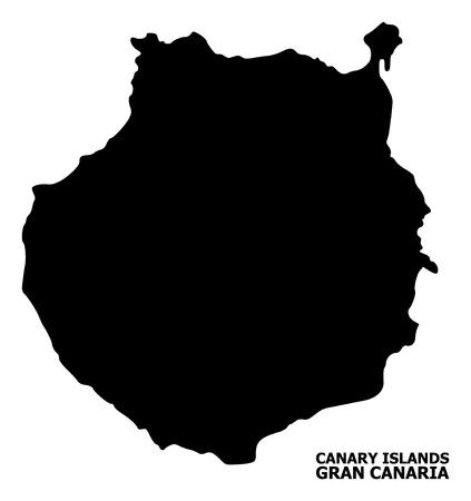 Wektorowa mapa Gran Canarii z podpisem. Mapa Gran Canarii jest izolowana na białym tle. Prosta, płaska mapa geograficzna.