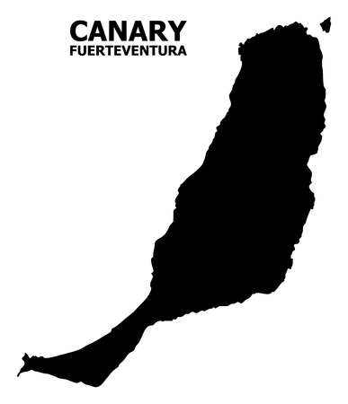 Vector Map of Fuerteventura Island with caption. Map of Fuerteventura Island is isolated on a white background. Simple flat geographic map.