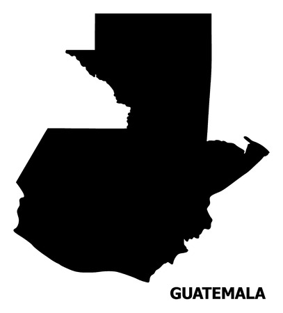 Vector Map of Guatemala with title. Map of Guatemala is isolated on a white background. Simple flat geographic map.