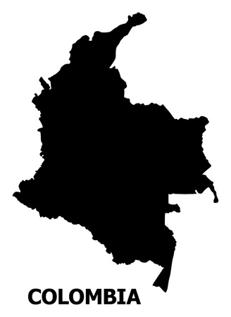 Vector Map of Colombia with caption. Map of Colombia is isolated on a white background. Simple flat geographic map. Reklamní fotografie - 120430283