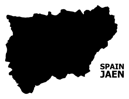 Vector Map of Jaen Spanish Province with caption. Map of Jaen Spanish Province is isolated on a white background. Simple flat geographic map. 일러스트