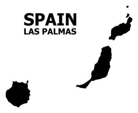 Vector Map of Las Palmas Province with caption. Map of Las Palmas Province is isolated on a white background. Simple flat geographic map. Çizim