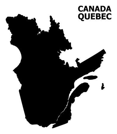 Vector Map of Quebec Province with caption. Map of Quebec Province is isolated on a white background. Simple flat geographic map.
