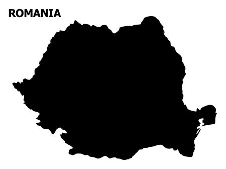 Vector Map of Romania with name. Map of Romania is isolated on a white background. Simple flat geographic map. Archivio Fotografico - 120490971