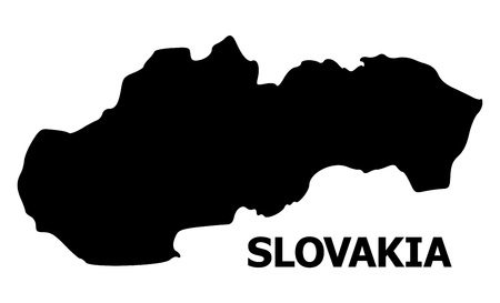 Vector Map of Slovakia with name. Map of Slovakia is isolated on a white background. Simple flat geographic map. Illusztráció