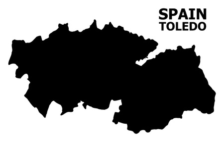 Vector Map of Toledo Province with caption. Map of Toledo Province is isolated on a white background. Simple flat geographic map. Illustration